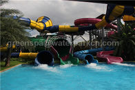Kids / Adult Outdoor Playground Water Park Fiberglass Water Slides For Aqua Park