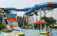 Open or Close Spiral Water Slide / Blue Raft Slide for Commercial Water Park Equipment
