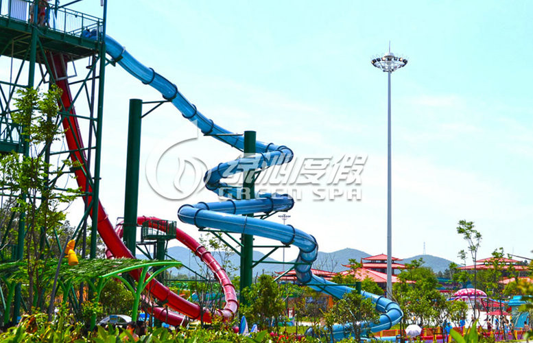 Multi Color Giant Fiberglass Water Roller Coaster for Aqua Play Water Park Games