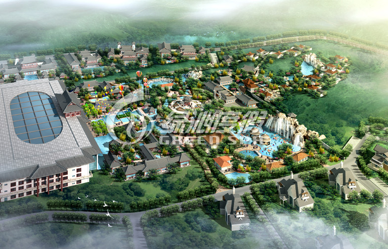 Water Park Project Design with Fiberglass Space Bowl Water Slide , Hotspring Resort Project